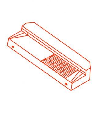 Advanciv precast concrete kerb entry AKO 1.8 Right